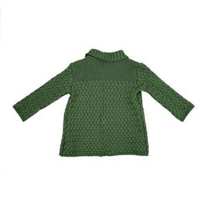 Casaco Infantil / Baby Em Tricot - Um Mais Um Verde