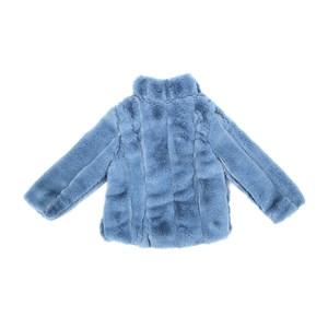 Casaco Infantil / Kids Em Pele - Um Mais Um Azul