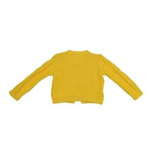 Casaco Infantil / Kids Em Tricot - Um Mais Um Amarelo Canario