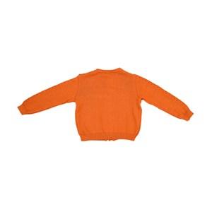 Casaco Infantil / Kids Em Tricot - Um Mais Um Laranja Escuro