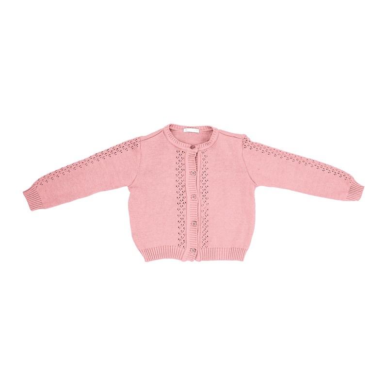 Casaco Infantil / Kids Em Tricot - Um Mais Um Rosa Claro