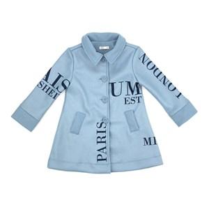 Casaco Infantil/Kids Feminino Em Lã - Um Mais Um Azul