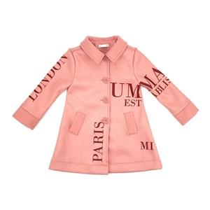 Casaco Infantil/Kids Feminino Em Lã - Um Mais Um Rose