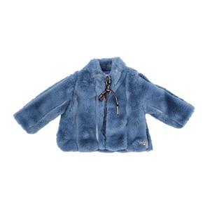 Casaco - Pele Infantil / Baby Em Pele - Um Mais Um Azul