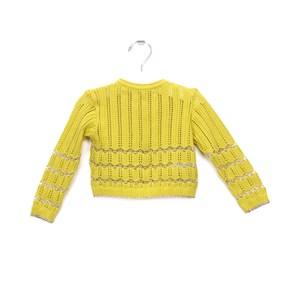 Casaco-Tricot Amarelo Canario