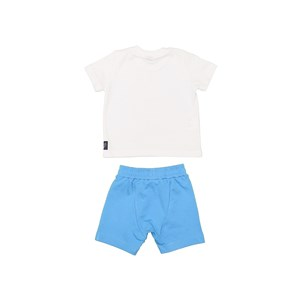 Conjunto Camiseta Estampada + Bermuda Saruel Az Turquesa