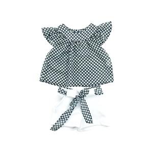 Conjunto Feminino Infantil / Baby Bata + Short Em Neoprene Liso E Voial - Um Mais Um Branco
