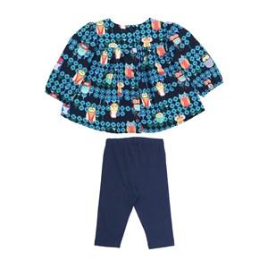 Conjunto Feminino Infantil / Baby Blusa Em Crepe Estampado + Fuseau Em Cotton Alquimia - Um Mais Um
