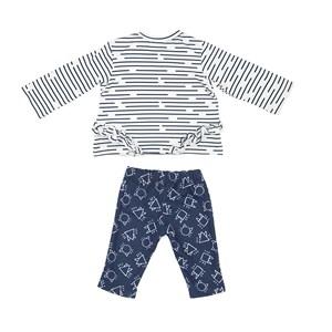 Conjunto Feminino Infantil / Baby Blusa Em Malha De Poliester Com Lycra Estampada + Calça Em Moletin