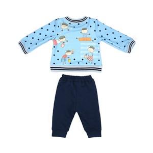 Conjunto Feminino Infantil / Baby Blusa Em Moletinho Com Lycra Estampada + Calça Em Moletinho De Vis