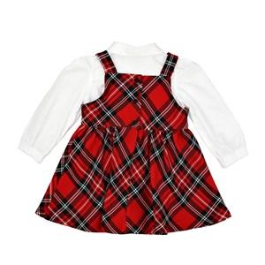 Conjunto Feminino Infantil / Baby Camisa Em Tricoline Galles Com Detalhe De Bordado Na Gola + Jardin