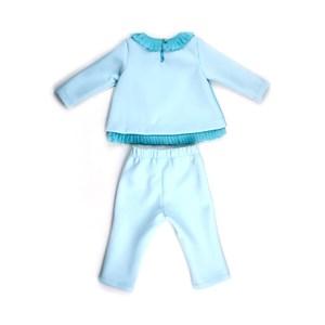 Conjunto Feminino Infantil / Baby Em Chifon Liso E Neoprene Leve - 1+1 Verde Agua