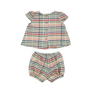Conjunto Feminino Infantil / Baby Em Malha Casinha De Abelha Estampado - Um Mais Um Bege Claro