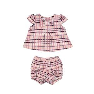 Conjunto Feminino Infantil / Baby Em Malha Casinha De Abelha Estampado - Um Mais Um Rosa Claro