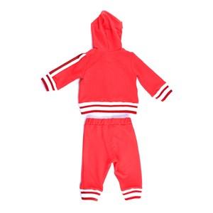 Conjunto Feminino Infantil / Baby Jaqueta Com Capuz + Calça Em Moletinho Viscose Com Lycra - 1+1 Vermelho
