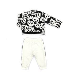 Conjunto Feminino Infantil / Baby Jaqueta Em Moletinho Com Lycra Estampado + Calça Em Moletinho Com