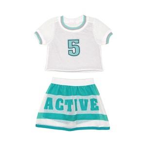Conjunto Feminino Infantil Blusa Com Short Saia Em Tela Verde