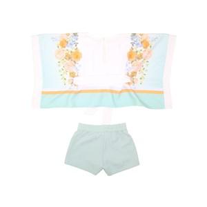 Conjunto Feminino Infantil Blusa Estilo Túnica + Short Verde