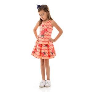 Conjunto Feminino Infantil / Kids Bata + Saia Em Alfaiataria Com Lycra  - Um Mais Um Laranja Escuro