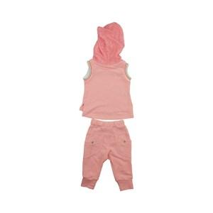 Conjunto Feminino Infantil / Kids Blusa + Calça Em Malha Paetê E Moletom Com Cadarço - Um Mais Um La