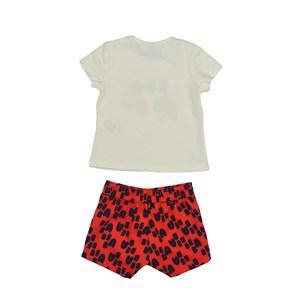 Conjunto Feminino Infantil / Kids Blusa Em Cotton Alquimia Com Estampa Frontal + Short Em Alfaiatari