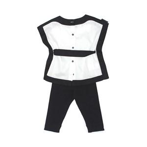 Conjunto Feminino Infantil / Kids Blusa Em Tricoline Galles + Legging Em Cotton Alquimia - Beaba Preto