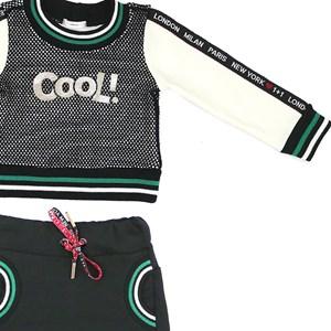 Conjunto Feminino Infantil / Kids Jaqueta Em Malha Telada E Moletinho Com Lycra  Com Patch Cool + Sh Preto