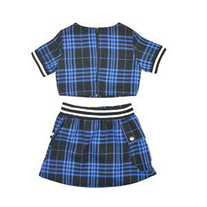Conjunto Feminino Infantil / Teen Em Tweed Xadrez - Two In Royal