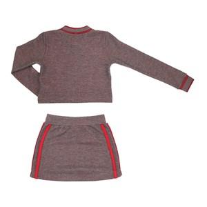 Conjunto Feminino Infantil / Teen Piquet Dupla Face Com Patch Nice Cool - Two In Vermelho