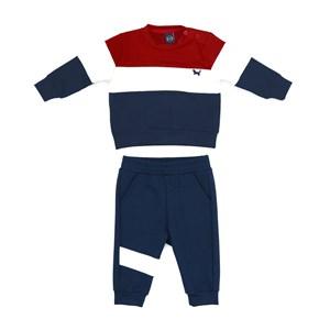 Conjunto Infantil/Baby Masculino Jaqueta + Calça Em Moletinho - Um Mais Um Marinho