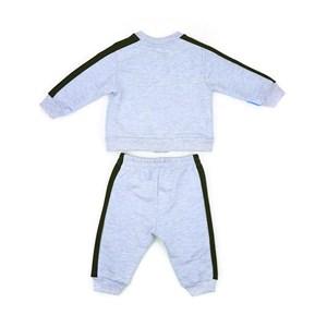 Conjunto Infantil/Baby Masculino Jaqueta + Calça Em Moletom Sem Felpa - Um Mais Um Azul