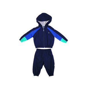 Conjunto Infantil/Baby Masculino Jaqueta + Calça Em Nylon Tac Tel - Um Mais Um Marinho