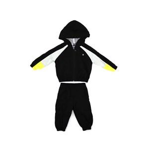 Conjunto Infantil/Baby Masculino Jaqueta + Calça Em Nylon Tac Tel - Um Mais Um Preto