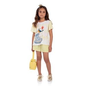 Conjunto Infantil Bata Evasê Com Short Azul