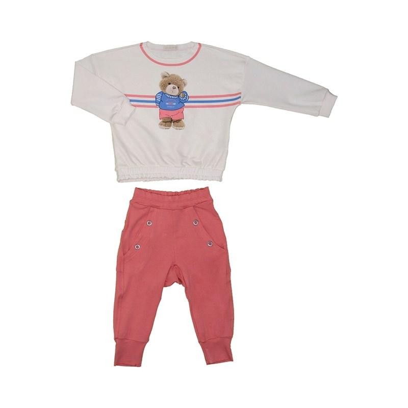 Conjunto infantil blusa de ursinho + calça com detalhe de ilhos ROSE