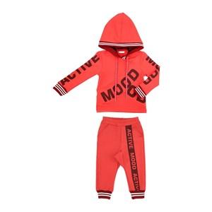 Conjunto Infantil/Kids Feminino Blusa + Calça Em Moletinho De Poliéster Com Lycra - Um Mais Um Vermelho