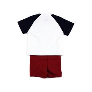 Conjunto Infantil Masculino Camiseta + Bermuda Em Malha Stong E Moletinho - Um Mais Um Vinho