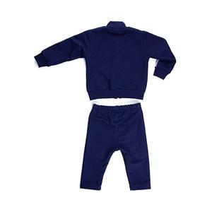 Conjunto Masculino Infantil / Baby Moletom + Calça Em  Moletom Sem Felpa - 1+1 Marinho