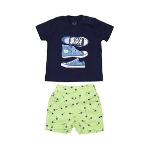 Conjunto T-Shirt + Bermuda Algodão Sustentável Lima