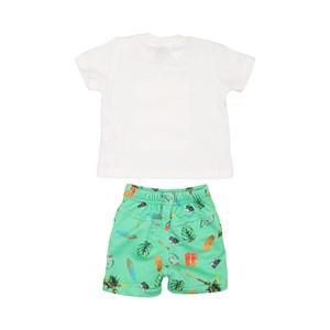 Conjunto T-Shirt + Bermuda Algodão Sustentável Verde
