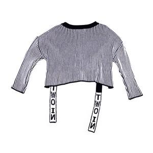 Cropped Feminino Infantil / Teen Em Tricot - Twoin Preto