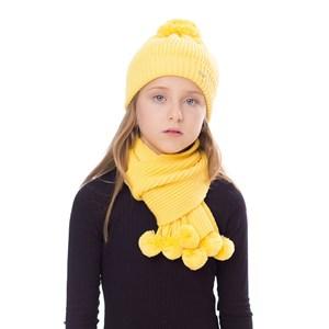 Gorro/Cachecoll-Tricot Kids Amarelo Canario