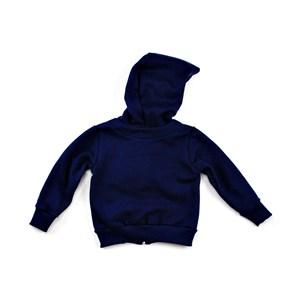 Jaqueta De Moletom Infantil Masculina Com Estampa De Animais Modelo Maga Longa Com Capuz - 1+1 Marinho