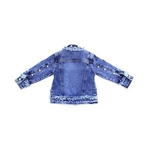 Jaqueta Infantil Feminina Em Jeans Com Rebites De Pélora – 1+1 Única