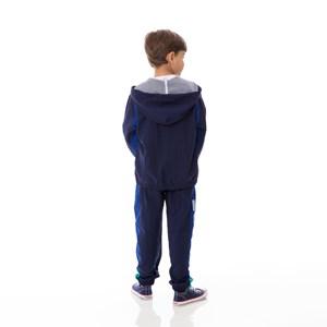 Jaqueta infantil/kids masculino em nylon tac tel - um mais um MARINHO