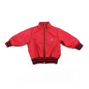 Jaqueta Masculina Infantil / Baby Com Zíper Em Nylon Liso - 1+1 Vermelho