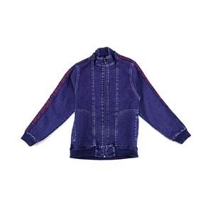 Jaqueta Masculina Infantil / Teen Com Zíper Frontal Em Jeans Com Lycra - Two Azul