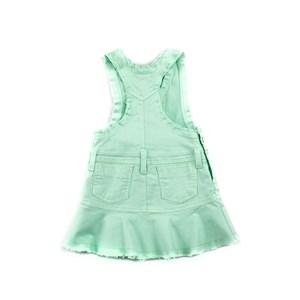 Jardineira Infantil Feminina Com Barra Desfiada - 1+1 Verde Agua