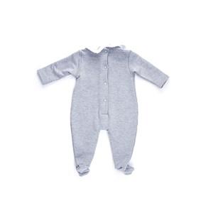 Macacão Baby / Maternidade Em Moletinho De Viscose Com Lycra - 1+1 Mescla Claro