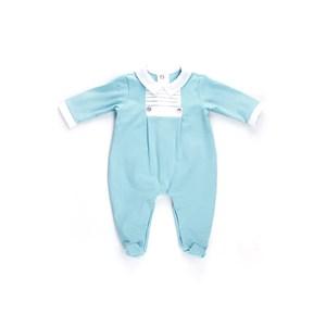Macacão Baby / Maternidade Em Sarja Acetinada Modelo Unissex -1+1 Azul